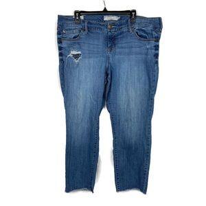 Torrid Distressed Boyfriend Jeans Raw Hem 18